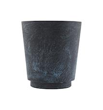 Blomkruka Marble Effect Ø 24x26 cm - Blå