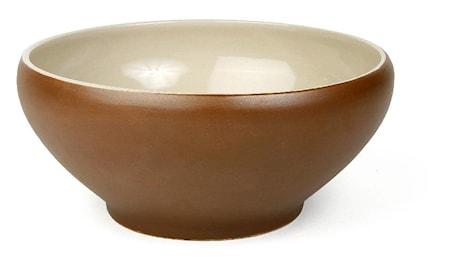 Skål 1,3 liter brun/beige