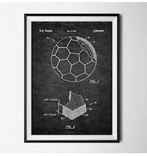 Patent fotboll svart poster