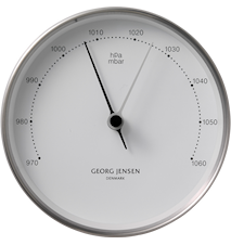 Henning Koppel Barometer 10cm Stål/Vit