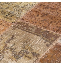 Patchwork Rug Brown