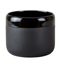Blomkruka Keramik Svart D 14cm H 11cm