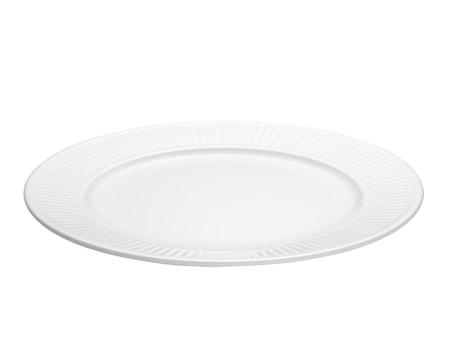 Plissé tallrik flat vit, Ø 26 cm