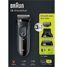 Braun Barberingsmaskin Shave&Style 3000BT