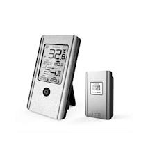 Trådløs Vejrtermometer Ude/inde Aluminium