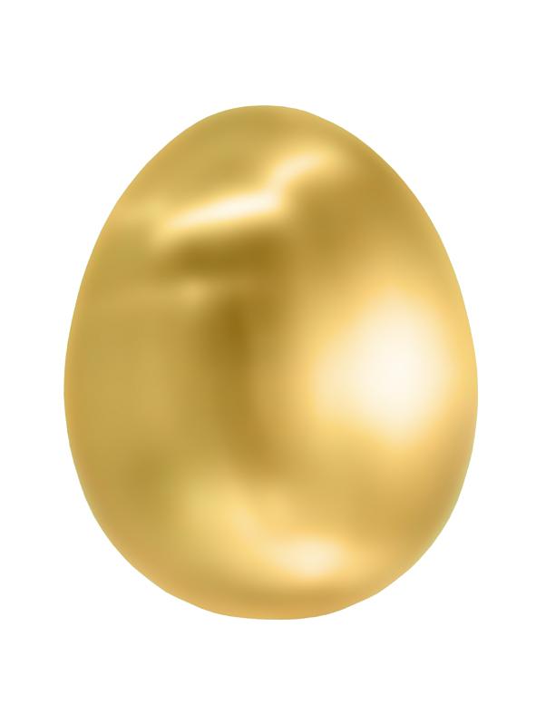 Ägg i polerad mässing