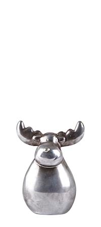 Bild av KJ Collection Figur Ren Keramik Silver 13 cm