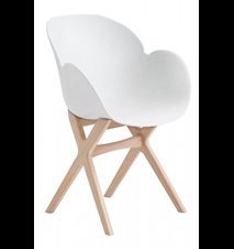 CASØ deluxe stol – Vit sits, ekram