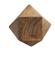 Knott Diamant M Natur Gjenbrukt Teak 12,5x12,5 cm
