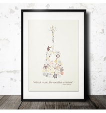 pattern of music poster