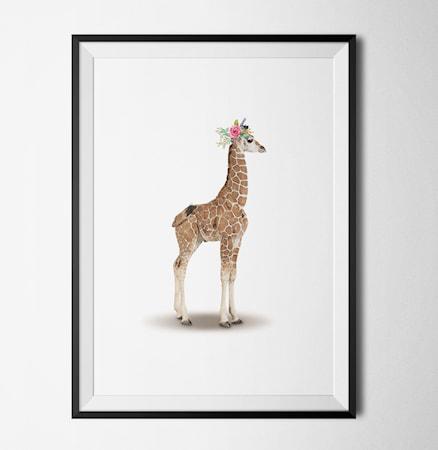Bild av Konstgaraget Giraffe poster