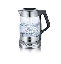 Te-/Vattenkokare Glas Deluxe med Temperaturval 3000W