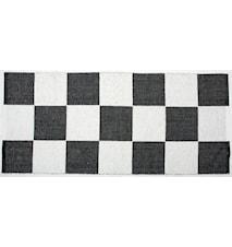 Schack matta - svart/vit