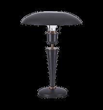 Bordslampa Opal 34 cm - Svart
