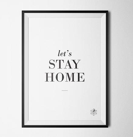Bild av Konstgaraget Stay home poster