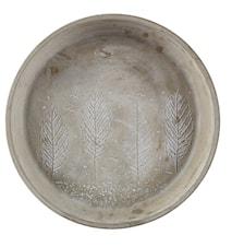 Ljusfat Cement Grå 30,2 cm