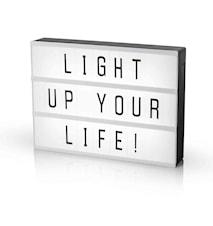 LED Light box A4 med 85 tegn