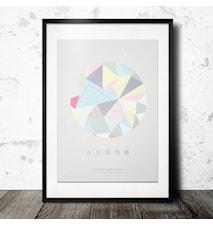 geometric circle poster