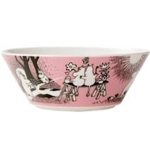 Mumin skål 15 cm Kärlek rosa