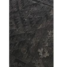 Kelim Natural Black Gulvtæppe - 170x240