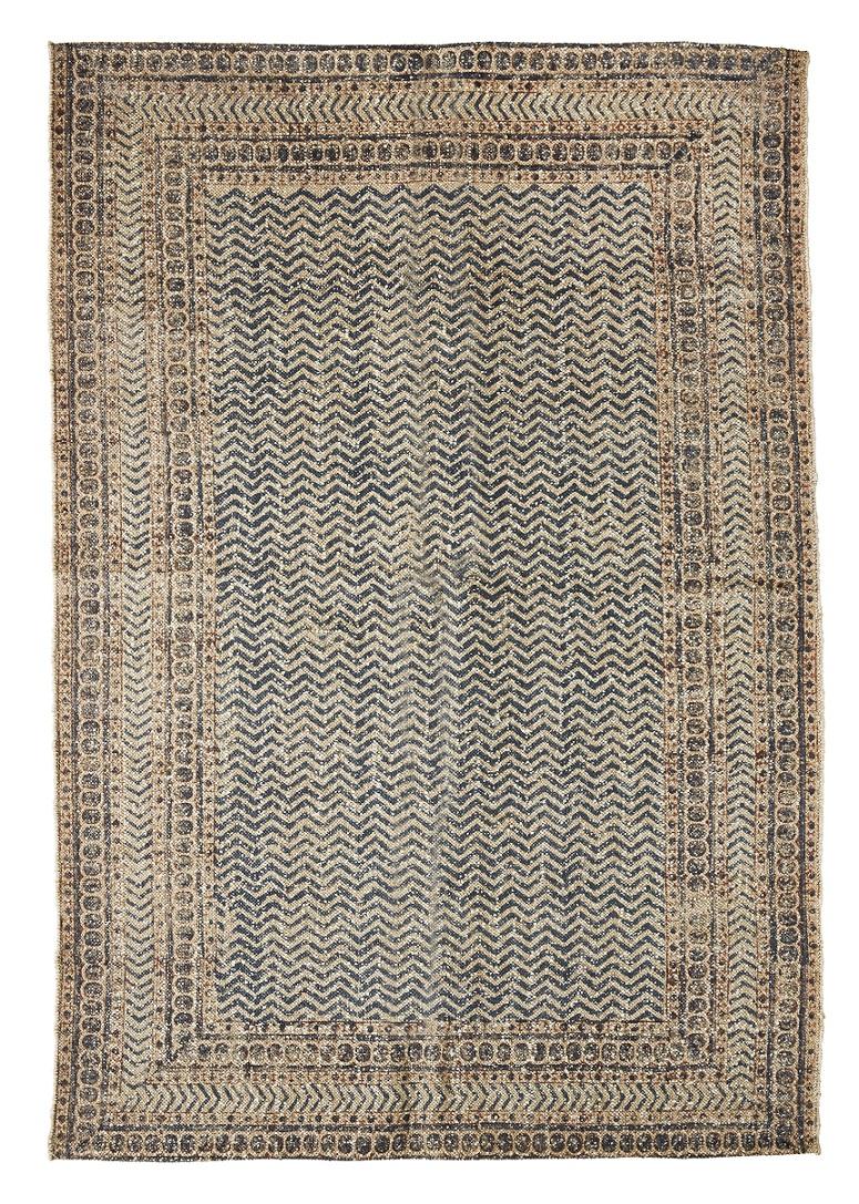 Hand woven wool jute printed matta
