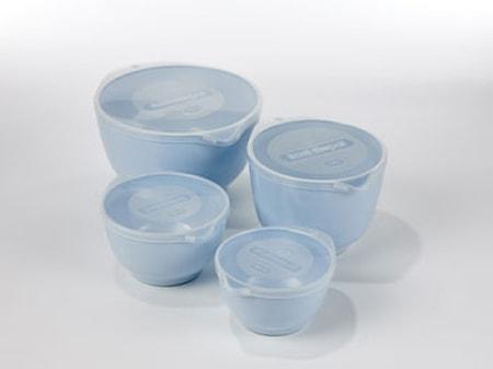 Sæt med 4 stk. blå Margretheskåle