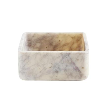 Bowl marble dekoration – White/brown