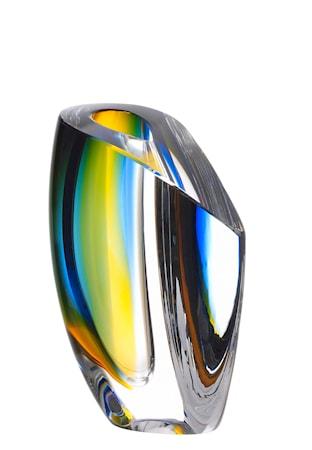 Bild av Kosta Boda Mirage Blå/Bärnsten Vas 15,5 cm