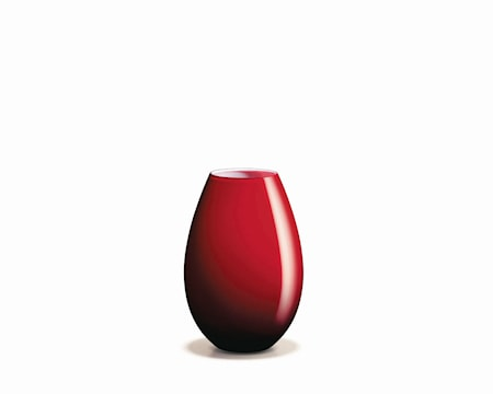 Cocoon Vas, röd, H 20,5 cm