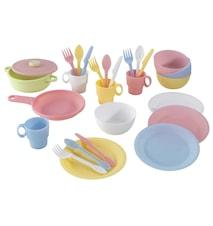 Matlagningsset Barn 27 Delar Pastel