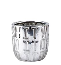 Kruka Keramik Silver 10 cm