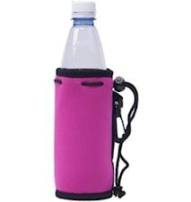 Neo pet fuscia- Neoprenfodral för PET flaska