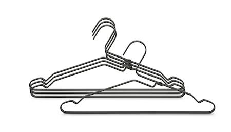 Klädhängare Aluminium Set med 4 st Svart