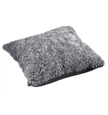 Ace Large Kudde fårskinn/ulltyg 50x50 - Graphite/Black