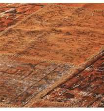 Patchwork Rug Orange
