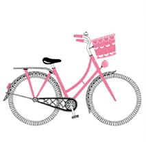 Rosa cykel poster