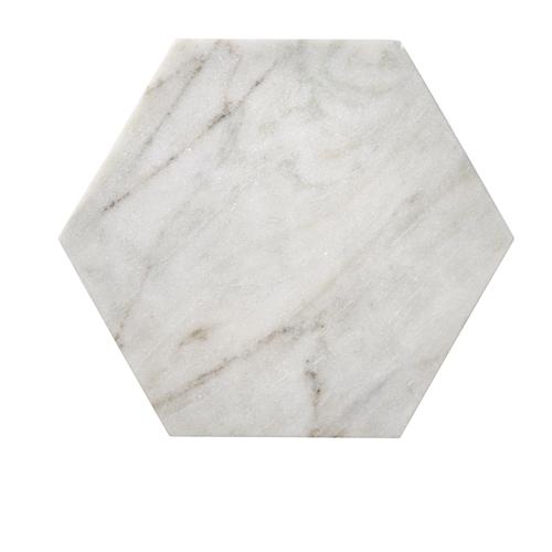 Bloomingville marmor bricka - Sexkantig