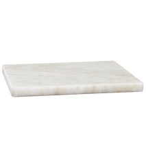 Bricka/Underlägg Vit marmor 15x15 cm