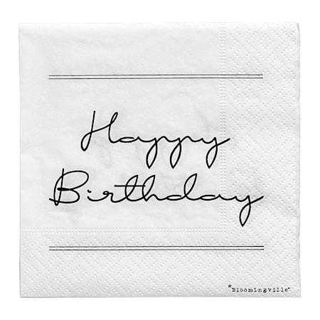 Bloomingville Servett Happy Birthday 20st