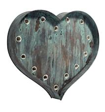 Heart lamp vägglampa
