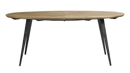 Oval Matbord Ljust trä 200x100cm