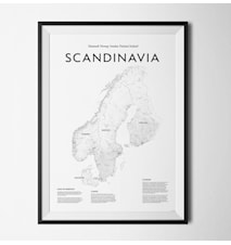 Scandinavia map poster
