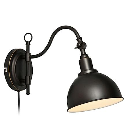 Ekelund Vägglampa Svart/Brun