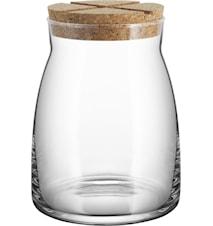 Burk med korklock 1,7 liter Klar