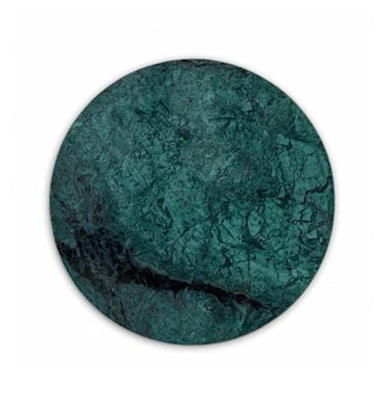 Rund Marmorbricka Grön Ø 30 cm