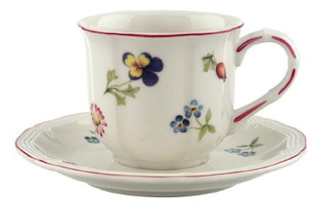 Villeroy & Boch Petite Fleur Espressokuppi&vati 2 osaa