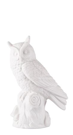 Figur Uggla Vit 10 cm