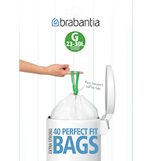 Avfallspåsar H, 40/50/60Ltr [Dispenser Pack med 30 påsar] White
