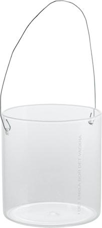 Hänglykta i glas d8 h8 cm