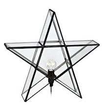 SIGISMUND Glass Star 38CM Black